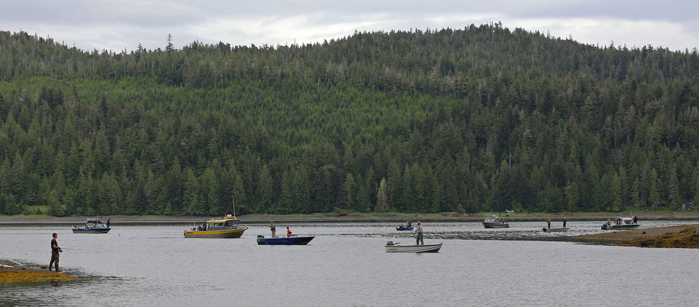 Neck Lake coho fishing is just across the bay from the Whale Pass Harbor