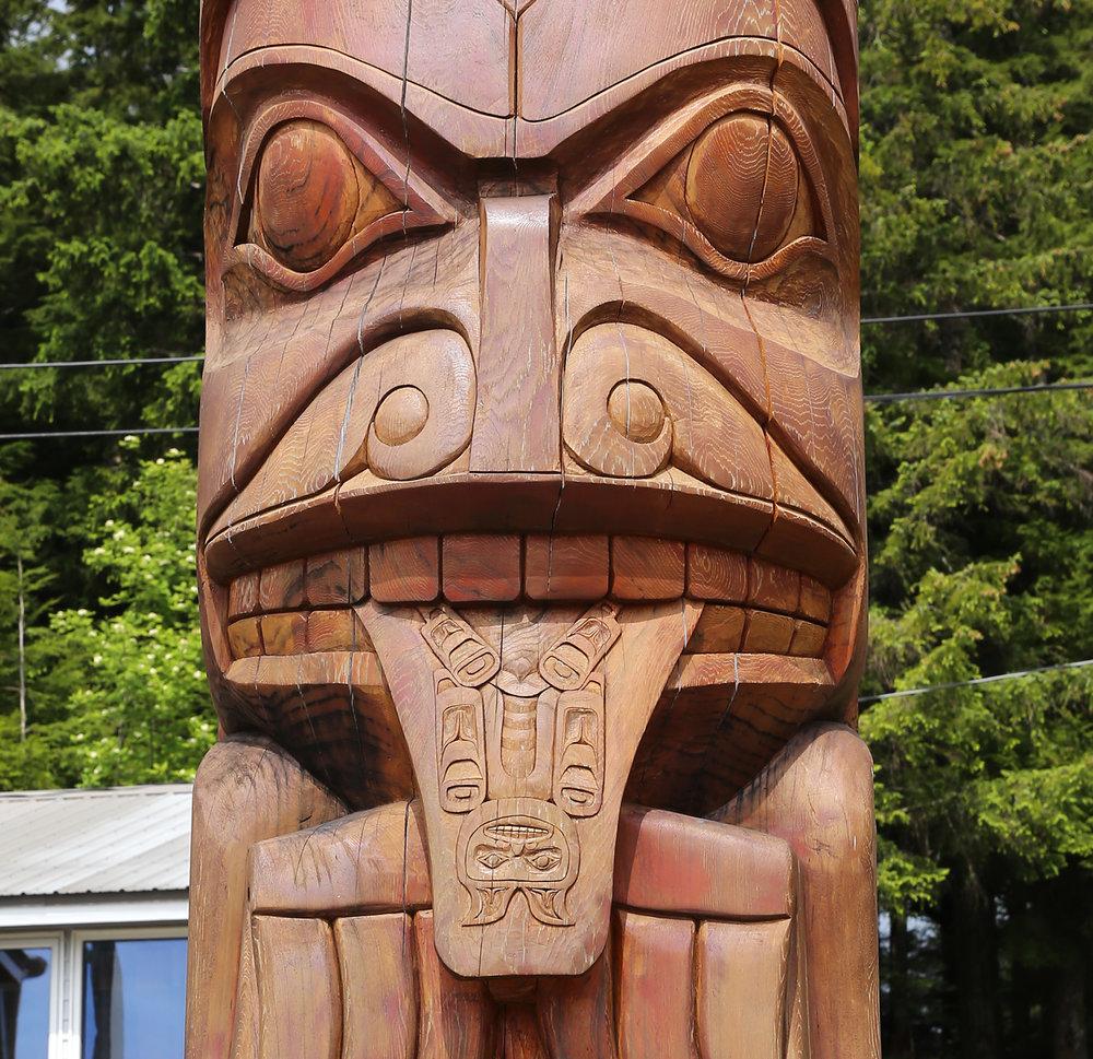 Hydaburg Totem Park Prince of Wales Island Southeast Alaska