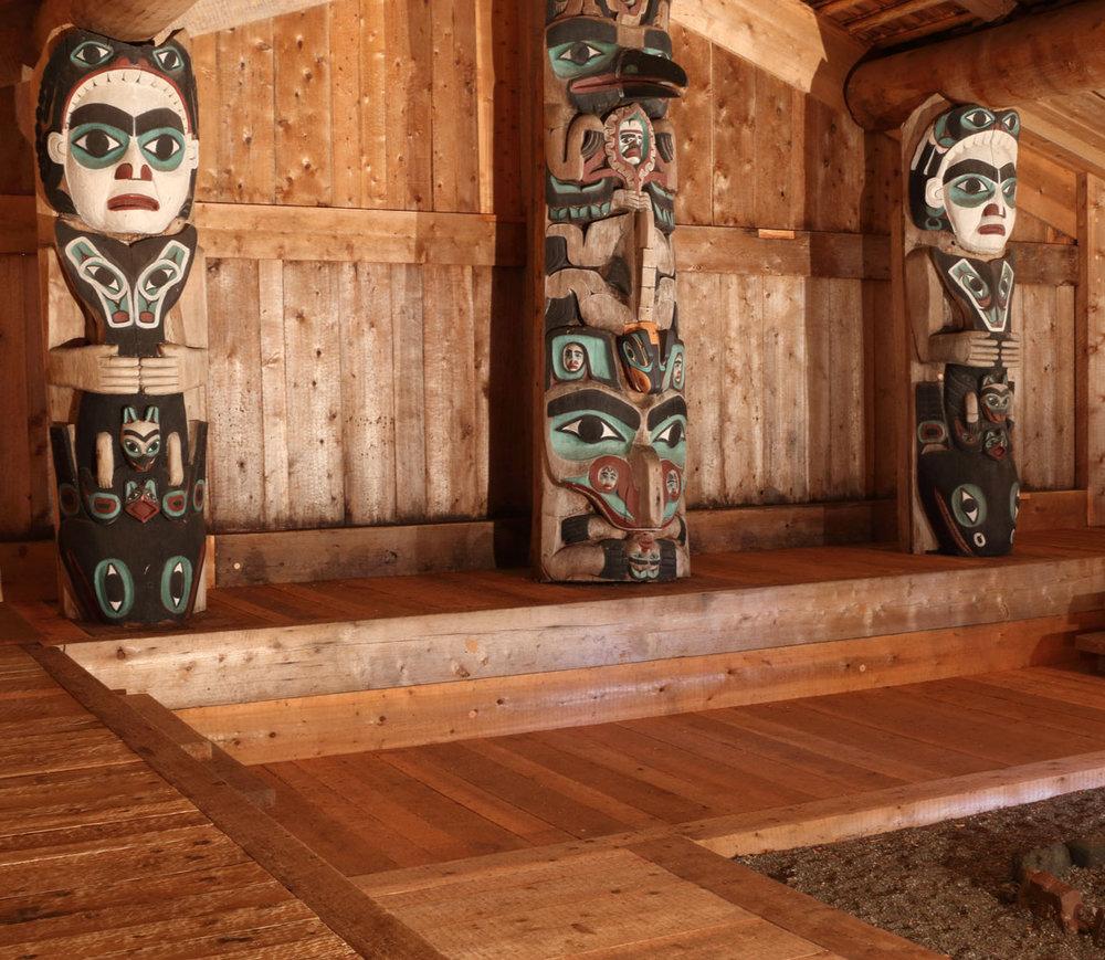 Kasaan Chief Son-i-Hat Whale House Longhouse Prince of Wales Island Southeast Alaska