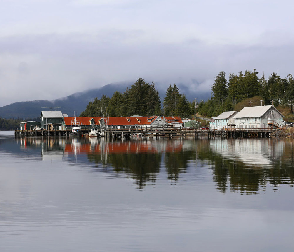 Klawock fish processing plant and boats Prince of Wales Island Southeast Alaska