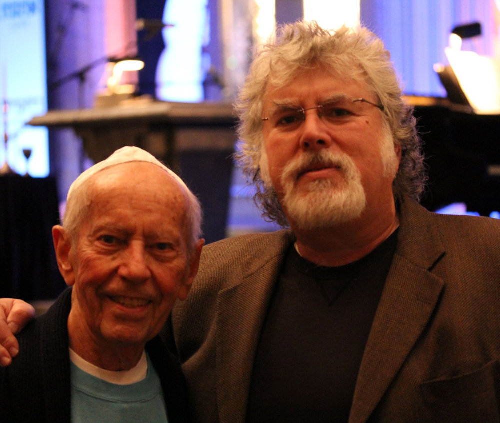 Richard with Holocaust survivor and hero of the Dutch Resistance, Curt Lowens. Curt inspired Richard's advocacy against anti-Semitism and all forms of religious intolerance.