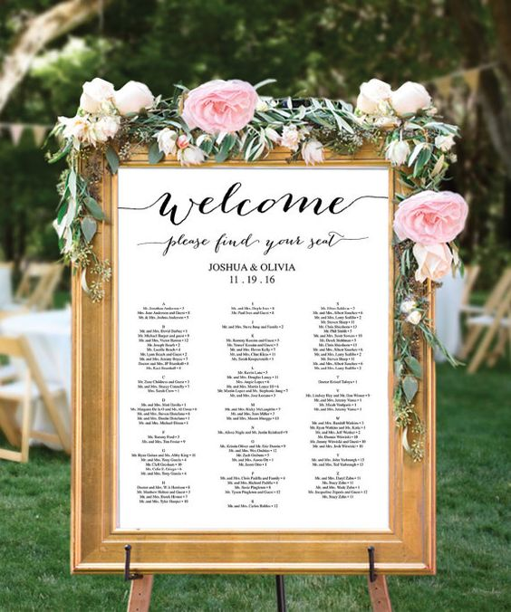 WEDDING NOTES: The Seating Plan