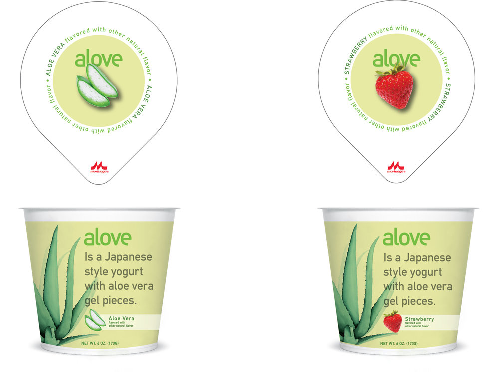 Re-design of packaging for a Japanese style yogurt made with aloe vera.