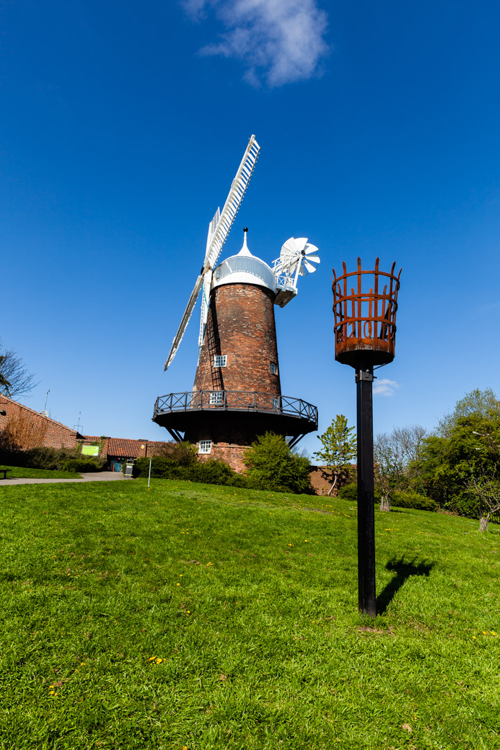 Green's Windmill in the sun.