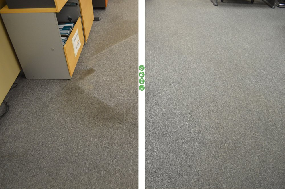 Before and After photos from carpet cleaning in Edison, New Jersey.