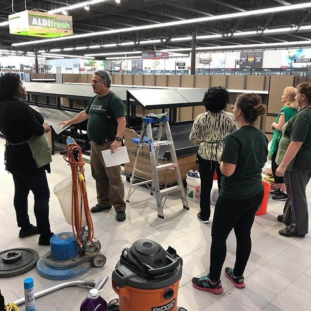 #DCCS #cleaning crew doing #postconstructioncleaning work at the #new #Aldi location in #hamiltonnj.  Call 732-360-0173 or visit NewJerseyOfficeCleaning.com for a free estimate.  #CleaningBusiness  #commercialcleaning #cleaningservice #dccsbiz #newjersey #nj #gardenstate