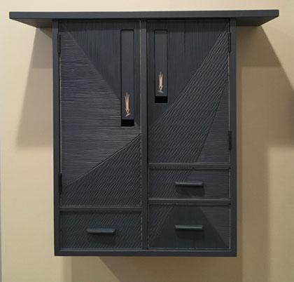 Textured Blue Cabinet-HTWW