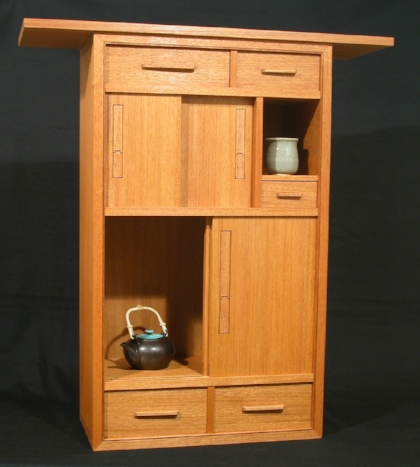 Mahogany Tea Cabinet
