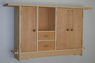 Pine Cabinet with Fir Doors and Drawers