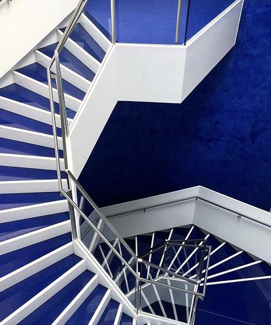 Blue Spiral Stairs - Aga Khan Museum