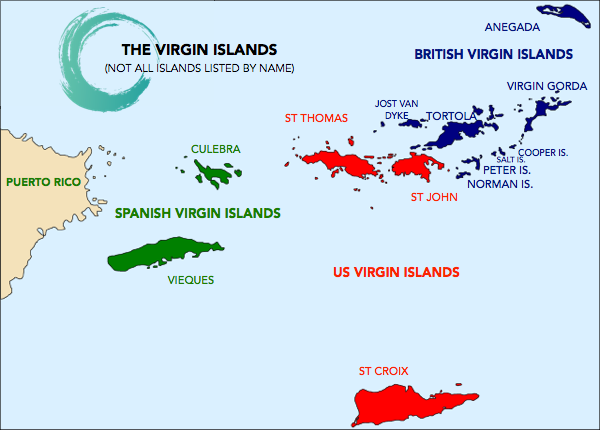 virgin islands mappng