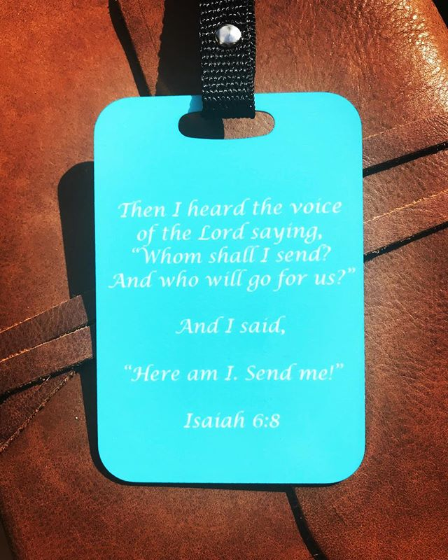 I love getting to make custom orders! ✝️ • • • #HallelujahHill #Turquoise #Blue #Custom #CustomOrder #Travel #LuggageTag #Isaiah #Isaiah6 #BibleVerse #HandMade #ShopSmall #ShopLocal #MadeInTheUSA #MadeInAmerica #AmericanMade #SmallBusiness #Etsy #Bible