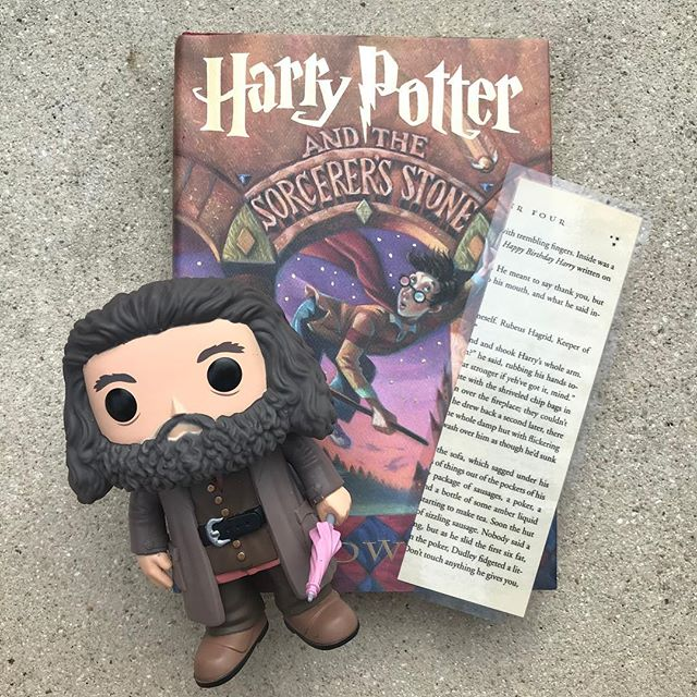 Happy Birthday Harry!  New bookmark in the shop!  Shop the link in my bio!  #HarryPotter #Hagrid #HappyBirthdayHarry