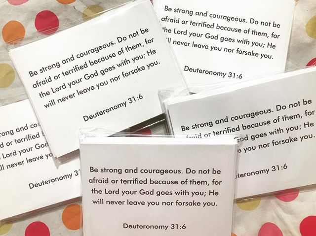 I love making custom orders for different people and groups! I hope each of these cards blesses their recipient, and each card will remind them that He will never leave them nor forsake them! • • • #Custom #CustomCards #Deuteronomy #Deuteronomy31 #Deuteronomy316 #HallelujahHill #Hallelujah #God #Jesus #BibleStudy #SmallGroup #GodsWord #HandMade #Etsy #MadeInAmerica #MadeInTheUSA #AmericanMade  #Notecards #BibleJournaling #MissionTrip