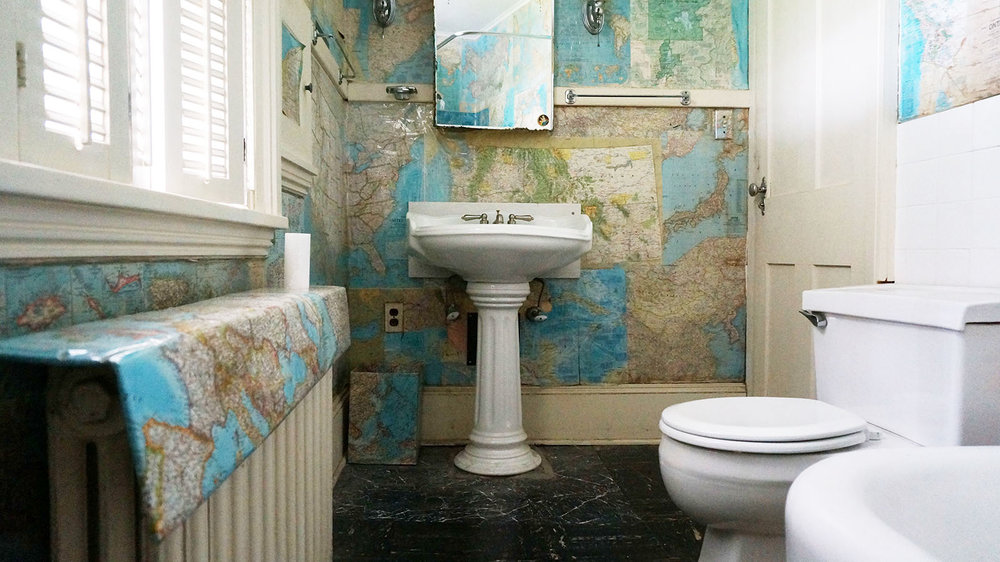 The Map Bathroom -