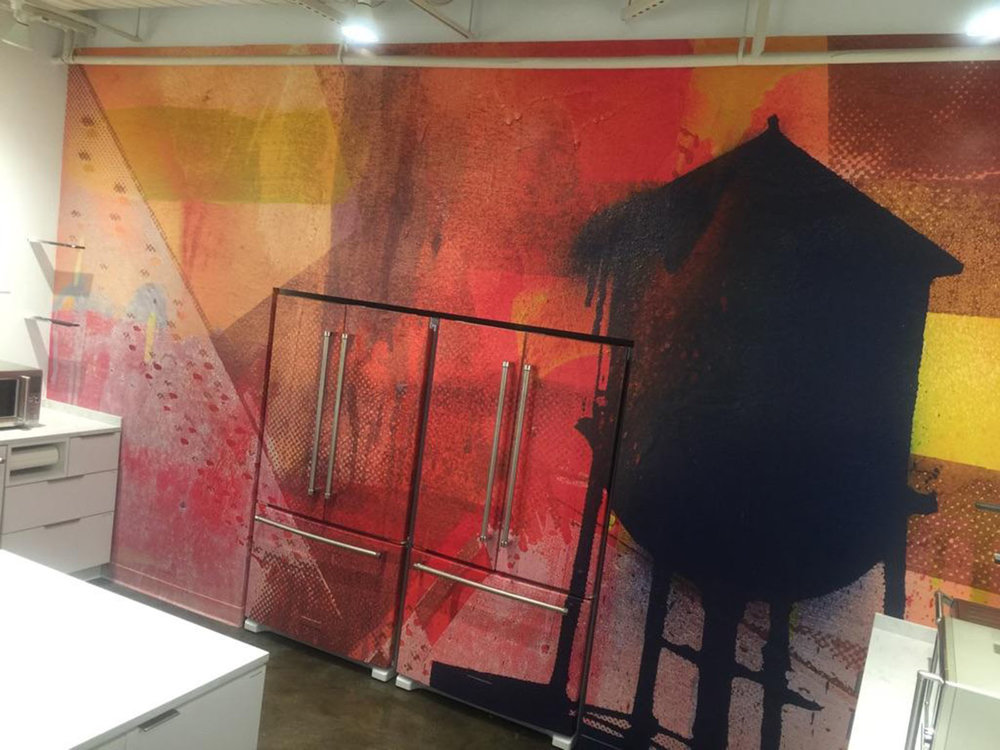 - The original was digitally duplicated and installed in a full wall wrap in Bialosky's new kitchen.