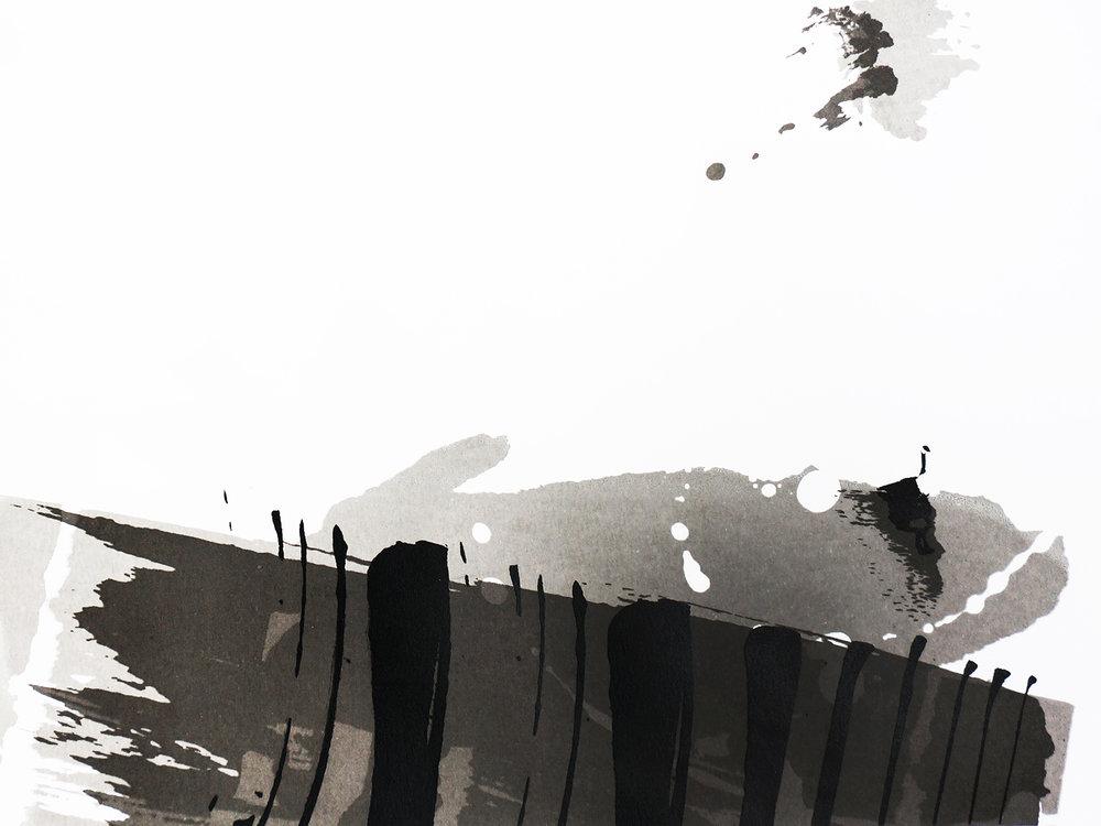 Ape_Bleakney_'Crossing The River' Cover (Mono), Screen Print, 2017.jpg