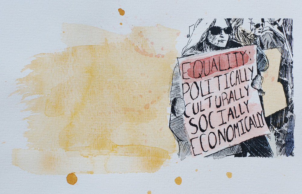 Ape_Bleakney_March Mixed Media - 'Equality (4)', 6.5''x9.5'', Screen Print + Watercolor, 2018 copy.jpg