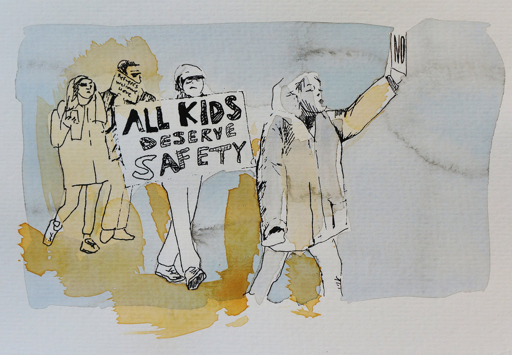 Ape_Bleakney_March Mixed Media - 'All Kids (3)', 6.5''x9.5'', Screen Print + Watercolor, 2018 copy.jpg