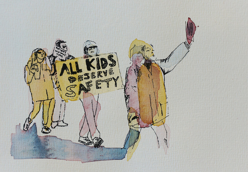 Ape_Bleakney_March Mixed Media - 'All Kids (5)', 6.5''x9.5'', Screen Print + Watercolor, 2018 copy.jpg