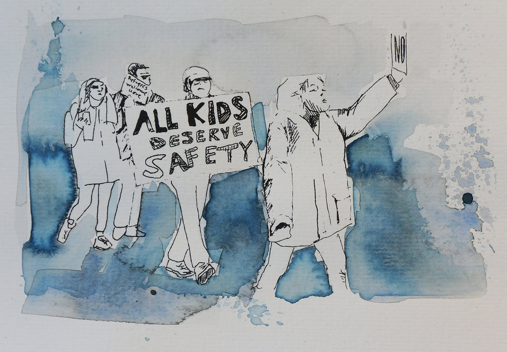 Ape_Bleakney_March Mixed Media - 'All Kids (7)', 6.5''x9.5'', Screen Print + Watercolor, 2018 copy.jpg