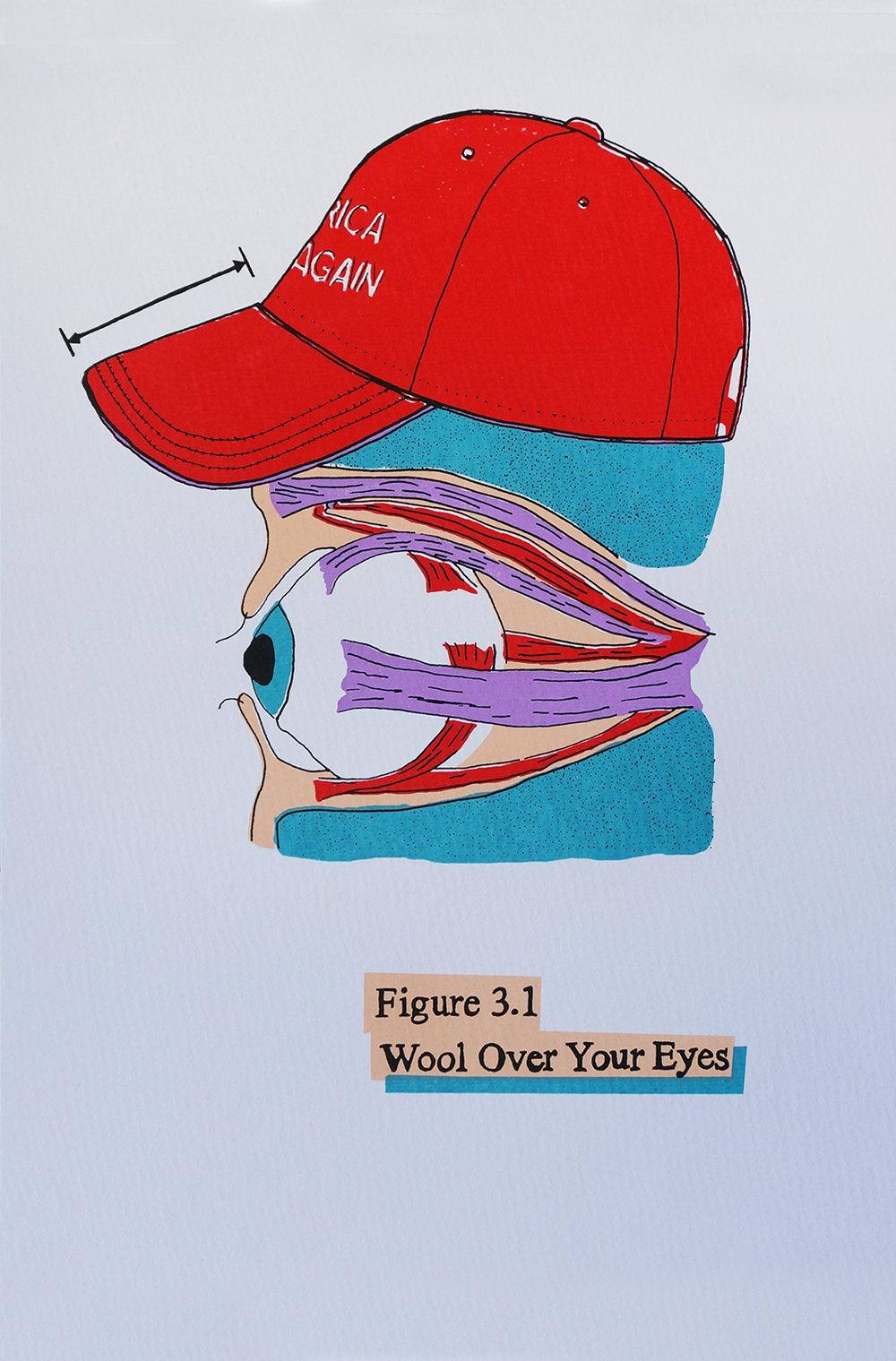 Ape_Bleakney_'Wool Over Your Eyes (White)', Screen Print, 12.5''x19'', 2018.jpg