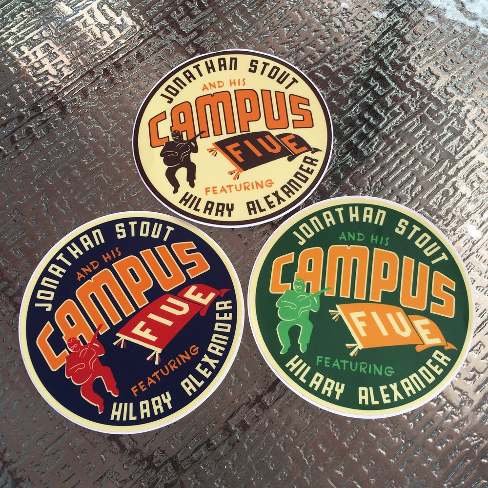 Stickers in Blue/Orange/Green