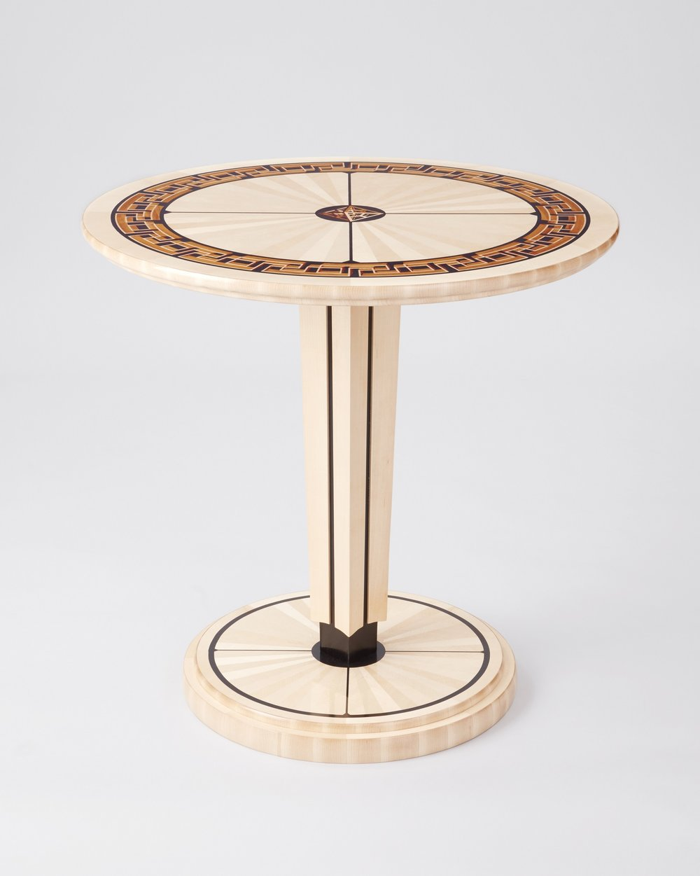"""Labyrinth Table"" 1st place winner 2017 Veneer Tech Craftsman Challenge furniture category."