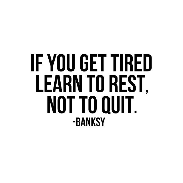 "Is it Friday yet? I have been going a million miles an hour these last few weeks and when I feel like it's just too much it reminds me of this quote. ""If you get tired learn to rest, not to quit."" . Life is a marathon, not a sprint. Learn to slow down and keep going. Also the advice from this week's episode with @chef_shayna about slowing down + showing up ... so you know it's good advice! #womenonamisssionpodcast"
