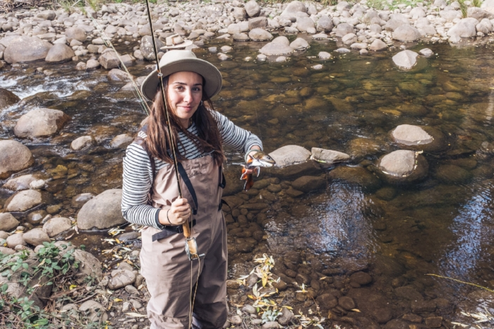 Tayla with her first brook trout