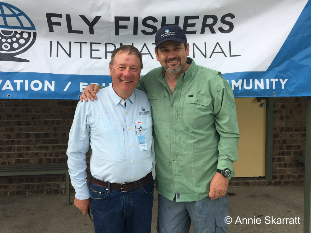 From left to right, FFI Master Casting instructor Bob Young and John Billing (a student Bob helped become a Certified Casting Instructor).