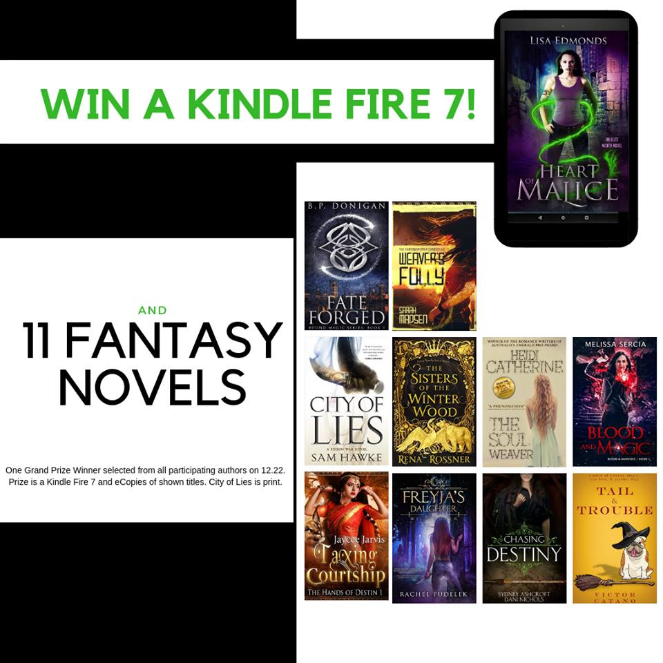 GRAND PRIZE WINNER GETS A KINDLE FIRE 7 AND 11 FANTASY NOVELS!
