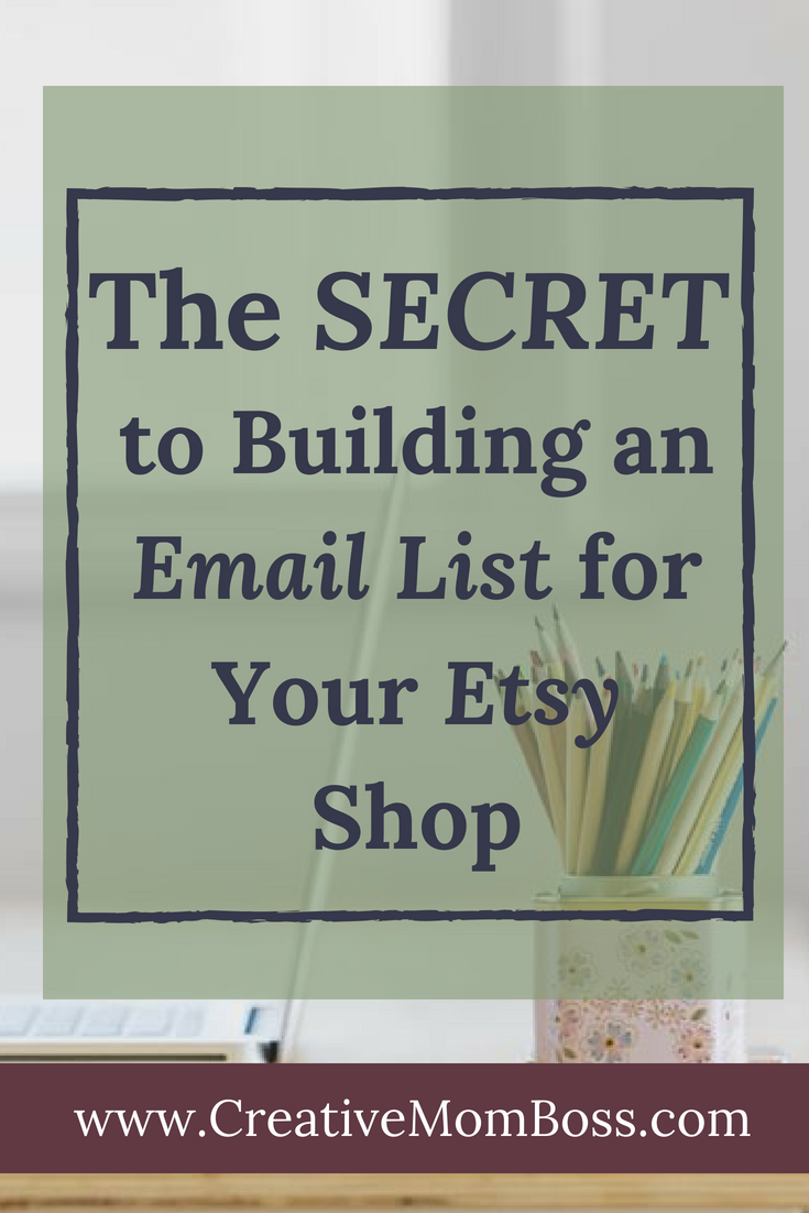 Secret to growing your email listing on Etsy