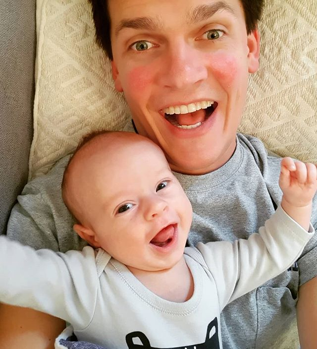 Being a dad and husband is great even when kids scream for no apparent reason. But when they smile is when it's just the best