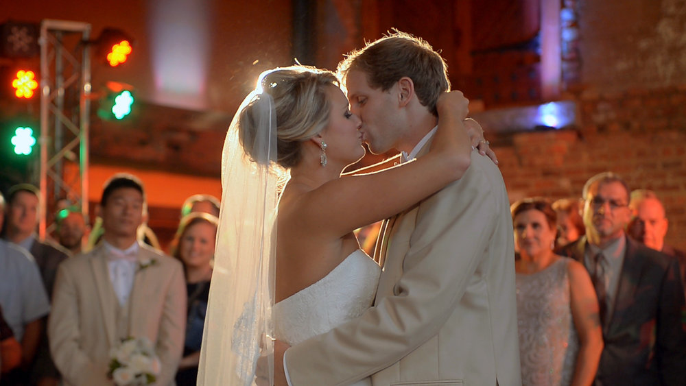 First dance as husband and wife. Full formal dances are captured and delivered on each DVD.