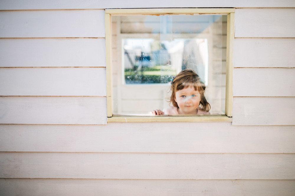 Sarah's daughter, Evie.