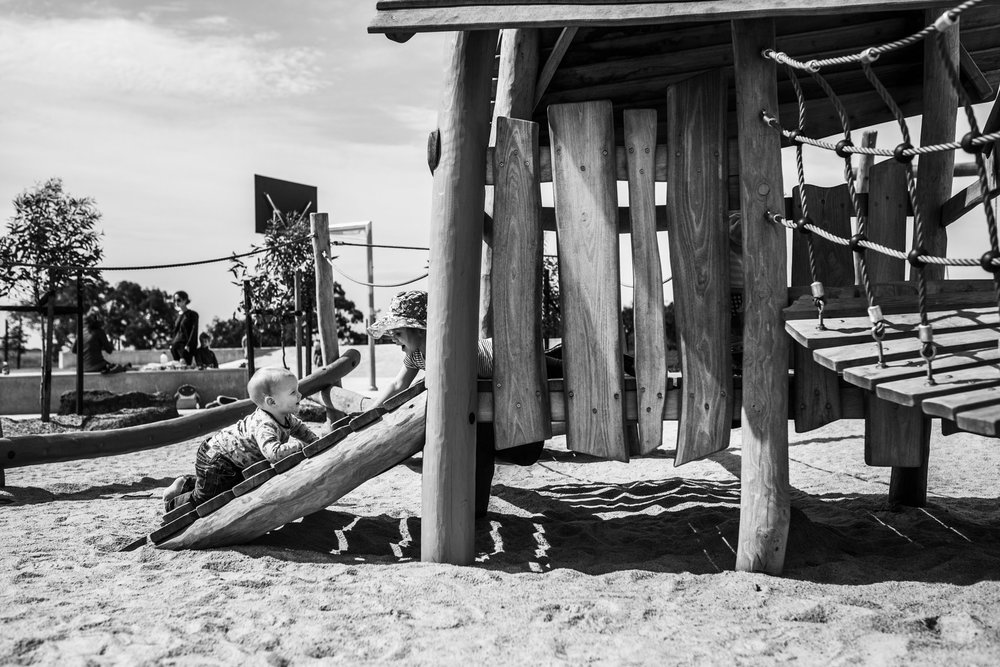 children playing in wooden beach style cubby house (1 of 1).jpg