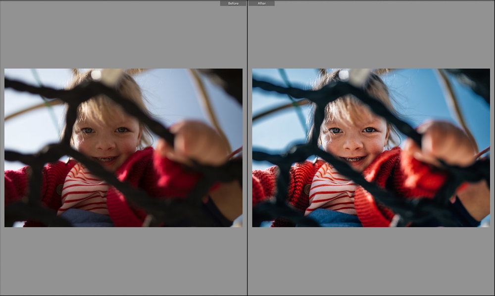 before and after little girl in climbing frame.jpg