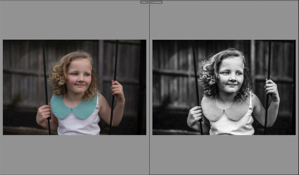 A transformation: Post processing can take a photograph from pretty snap to stunning portrait.