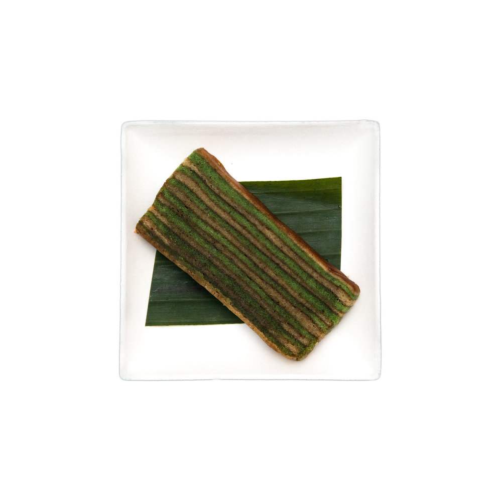 Lapis Legit $4.50 - Pandan leaves, egg, milk, cinnamon