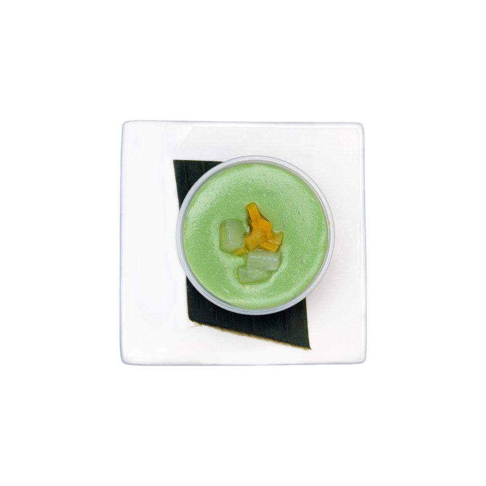 Jackfruit Custard $4.00 (V) - Coconut milk,jackfruit, palm nut,avocado