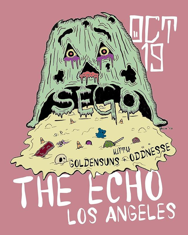 Los Angeles! We are playing with the wonderful @segomusic & @oddnesse Oct 19th at The Echo! Come boogie. Get your tix at www.segoband.com  Hugz & kisses