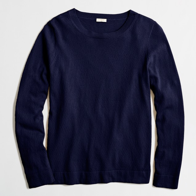 Cotton Wool Teddy Sweater  by Jcrew Factory $34.95