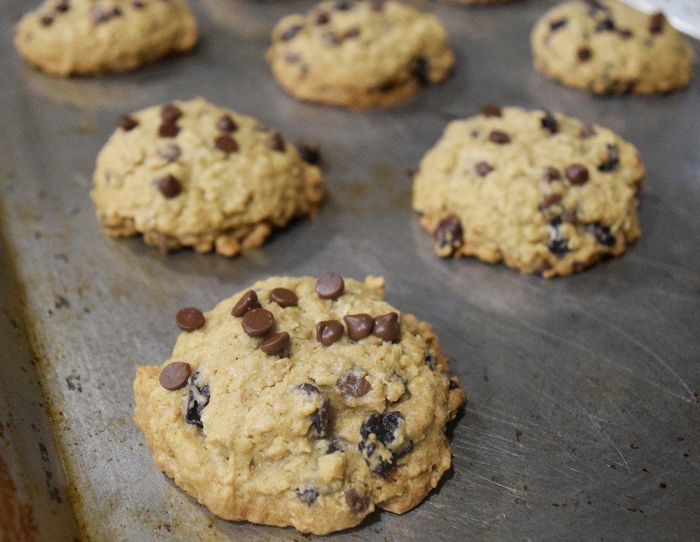 Oatmeal Raisin Chocolate Chip Cookies (GF)