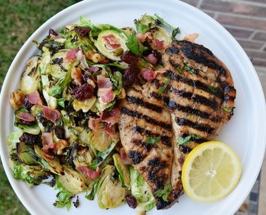 Citrus Chicken + Shaved Brussels Sprouts