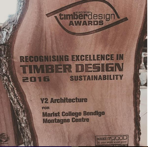 Well done to the team at Y2 for their wining entry into the Australian Timber Design Awards Sustainability category.  The Montagne Centre Project utilises Reclaimed telegraph poles, recycled timbers, exposed Gunlam Timber trusses and local sustainably sourced timber cladding.