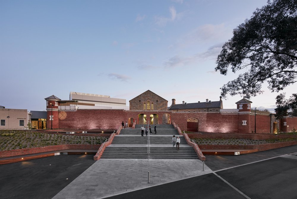 Y2 Architecture for the Ulumbarra Theatre at Bendigo Senior Secondary College completed in December 2016 for $27.3 million. This 1,000-seat theatre has been created in a former 19th century jail on the college grounds.