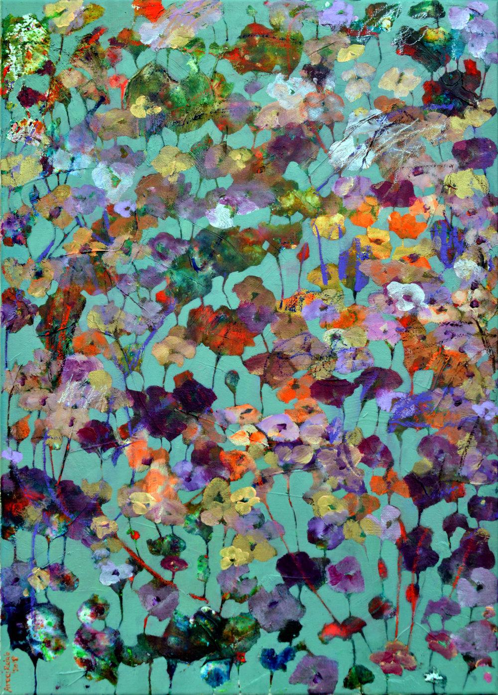 Untitled | Areej Rajab |50x70 cm | Mixed Media on Canvas | BHD400.JPG