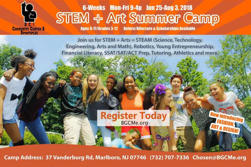 STEM + Arts Summer Camp Flyer