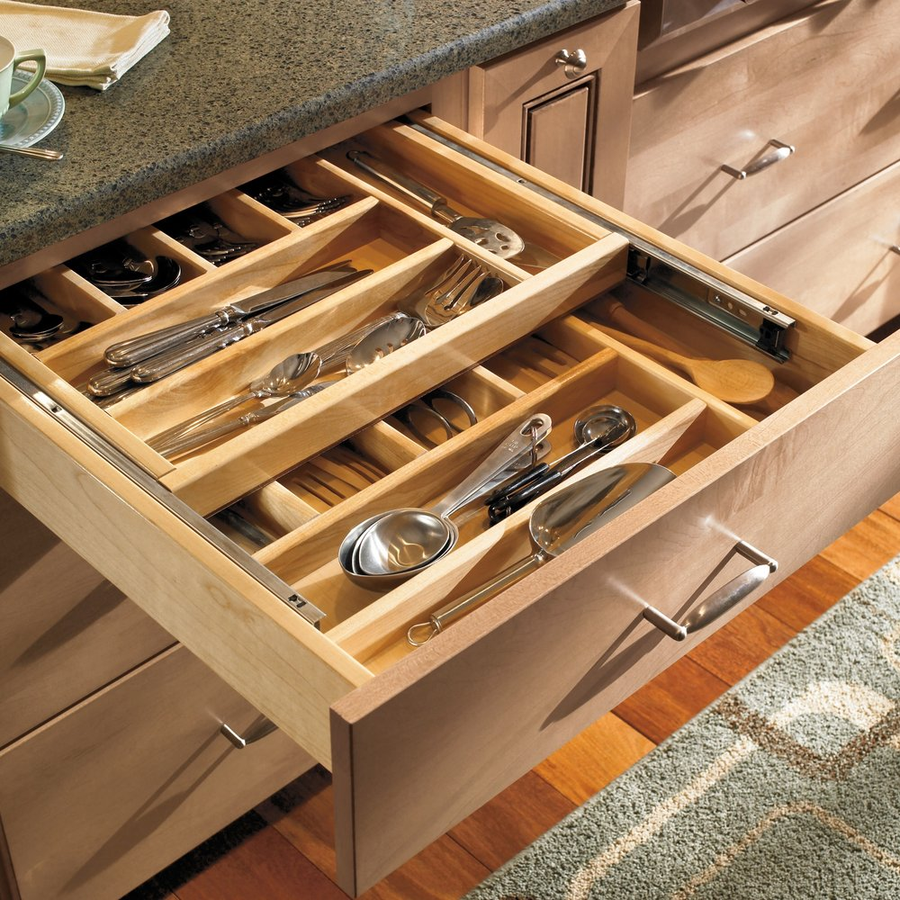 Tiered Cutlery Divider  Source -  Masterbrand Cabinetry